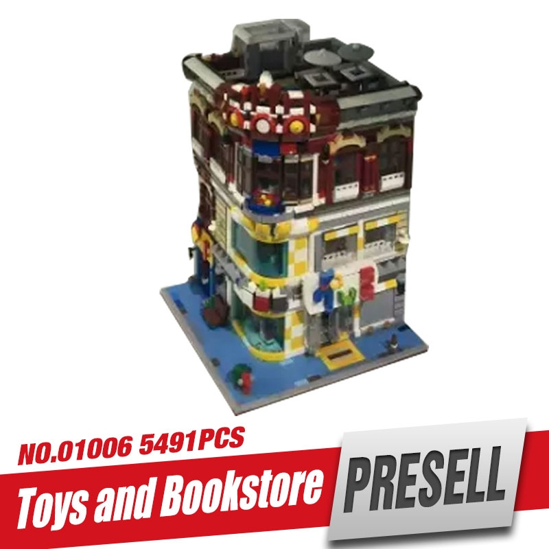 (165.00$)  Watch now  - XingBao 01006 5491Pcs Genuine Creative MOC City Series The Toys and Bookstore Set Children Building Blocks Bricks Toy Model Gift