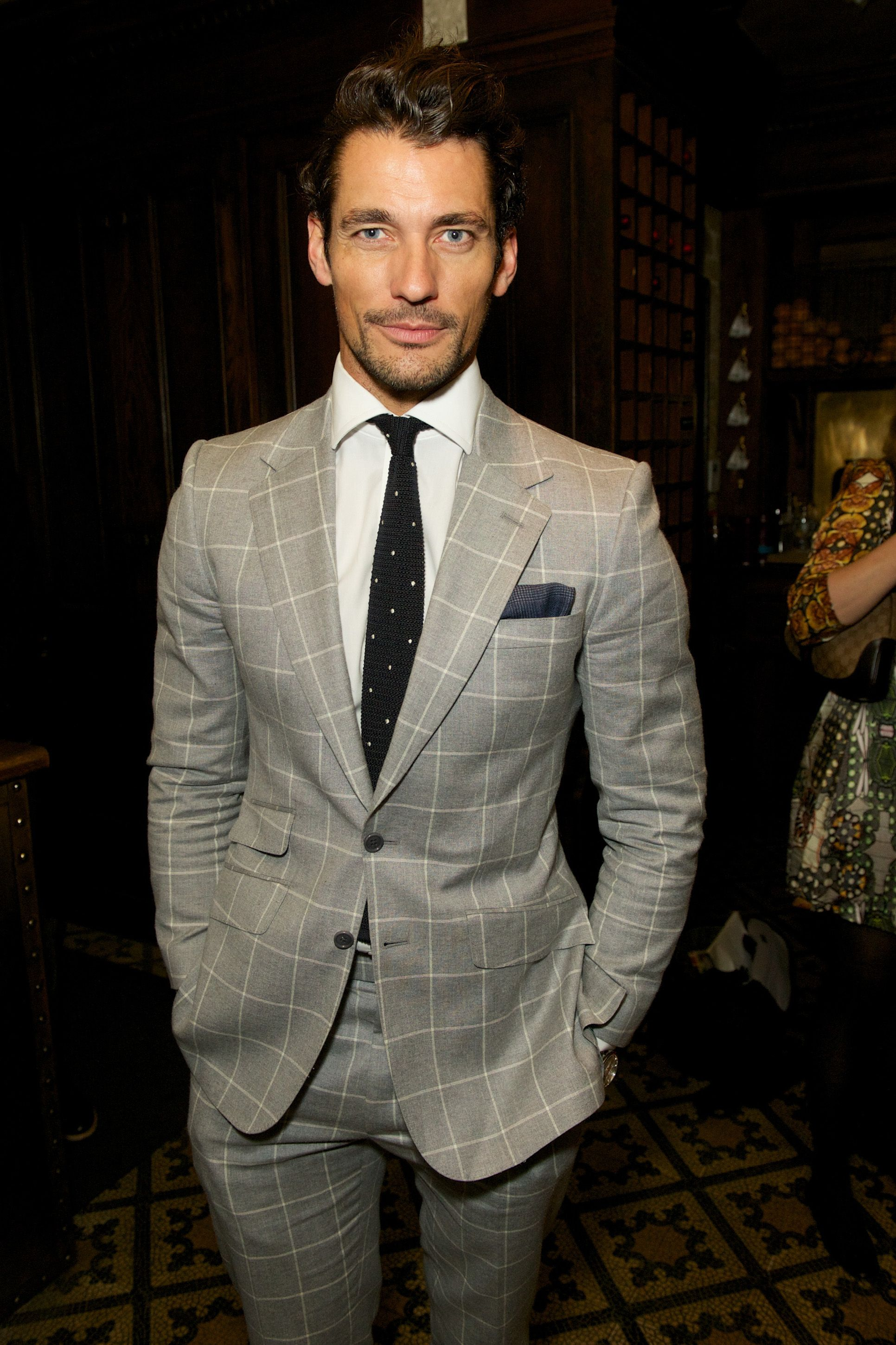 The sartorial david gandy in a tommy hilfiger windowpane check at stylish men ccuart Gallery