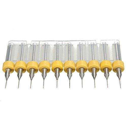 10Pcs 0.4mm Micro Drill Bits PCB Print Hole Puncher CNC Drill Bits