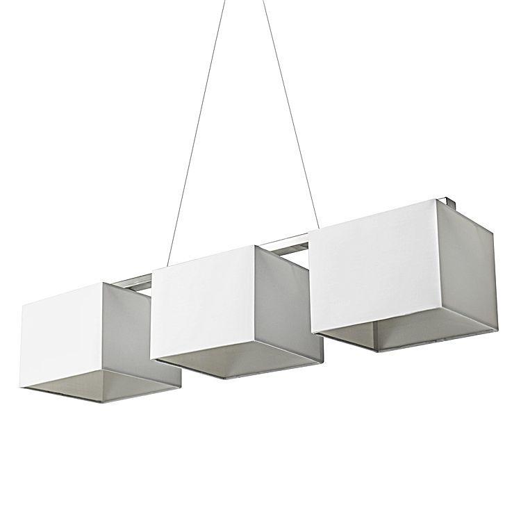 Bassett 3 Light Rectangular Pendant Light White By Iniko