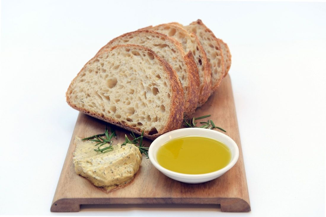 Rosemary And Black Garlic Powder Infused Butter On A Gold Medal Bread Board See More At Www Garliciousgrown Com Au Black Garlic Infused Butter Bread Board
