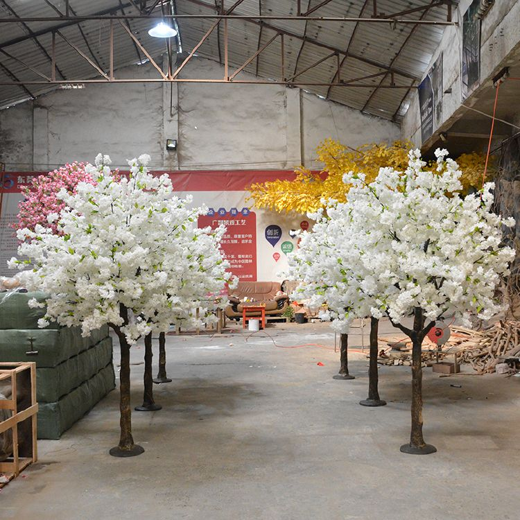 8ft White Artificial Cherry Blossom Tree For Wedding Decorations Artificial Cherry Blossom Tree White Blossom Tree Cherry Blossom Tree