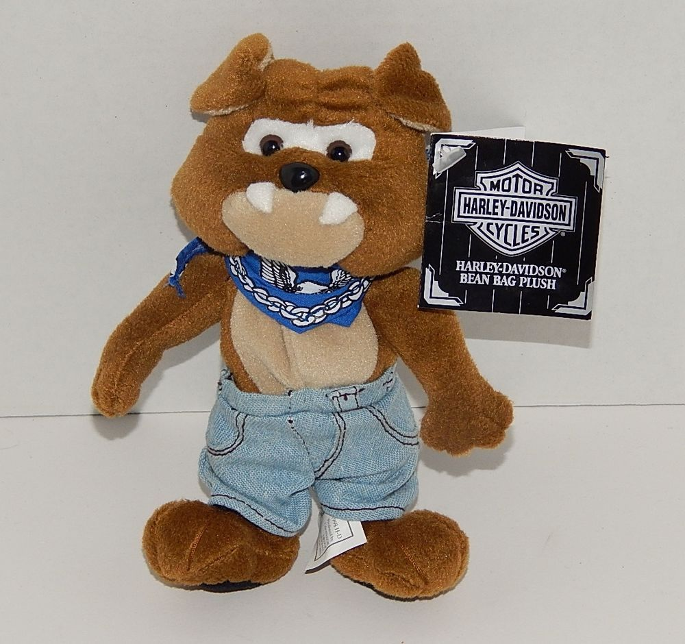 1998 Harley-Davidson Plush Beanie Baby - Spike the Bull Dog - NOS with Tags 891ffb993c2