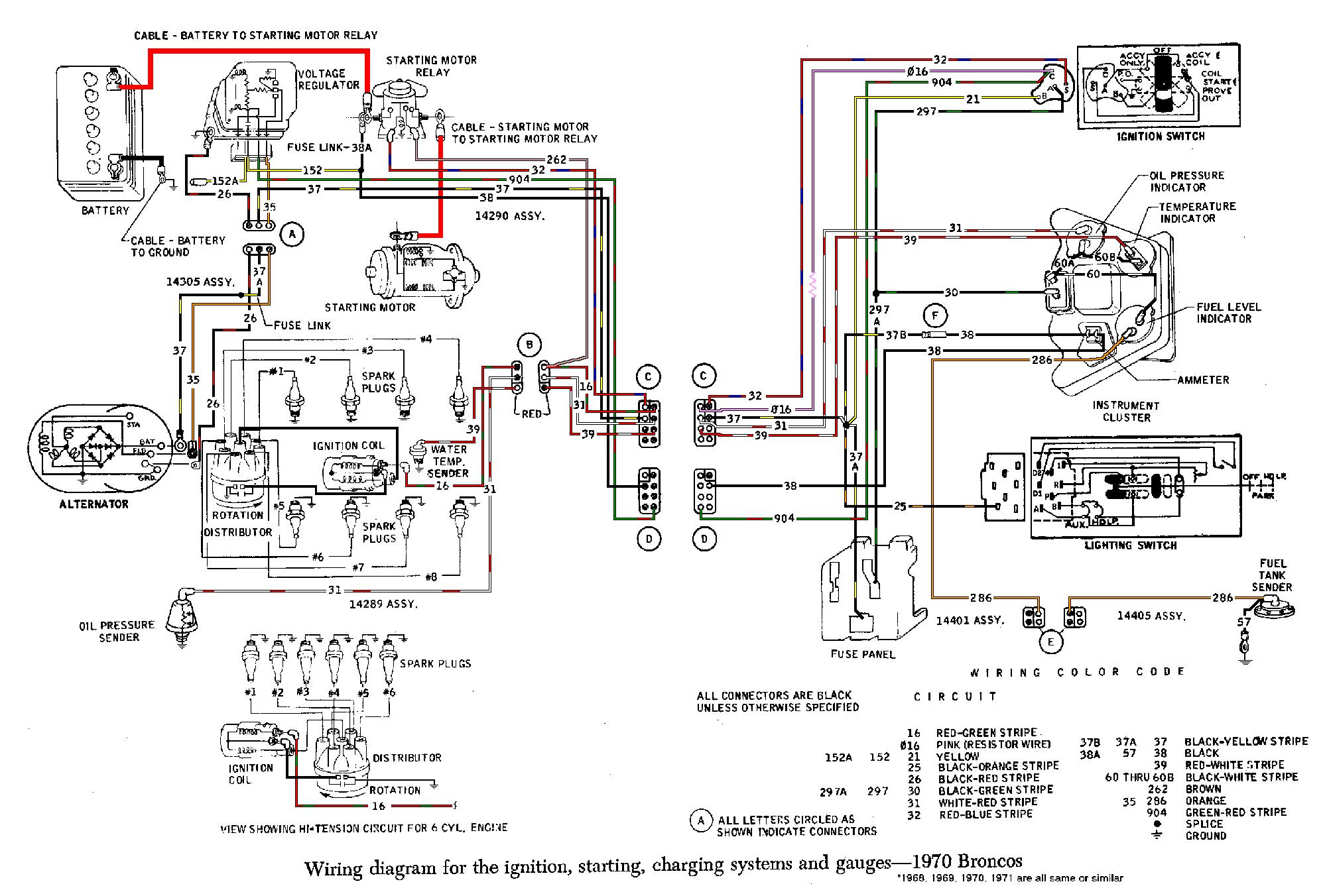 1970 Bronco Wiring Diagram