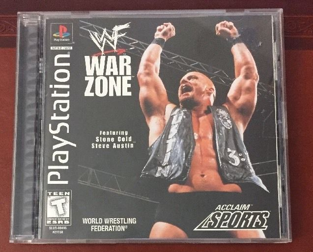 WWF War Zone PS1 Sony PlayStation 1 Video Game WWE COMPLETE