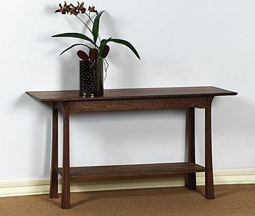 McKinnon Furniture Shinto Wood Console Table Furniture Fabric