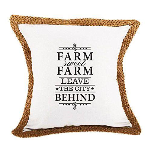 sweet white sofa cover   Farm Sweet Farm Leave City Sofa Bed Home Decor Canvas Jute ...