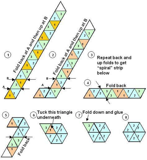 Folding Education Pinterest Students - hexaflexagon template
