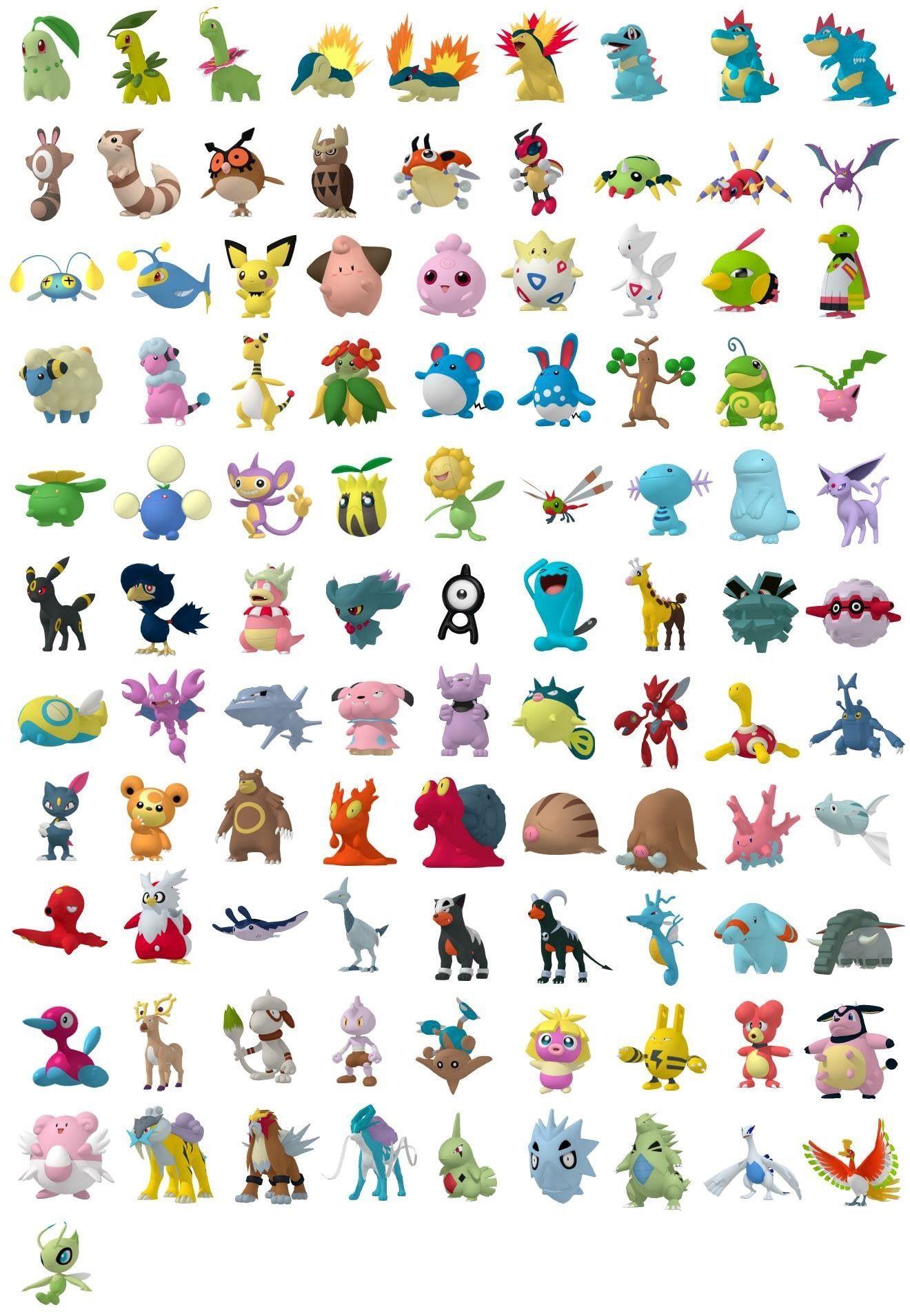 Segunda generación Pokémon Go. | Pokemon | Pokémon, Pokemon go ...
