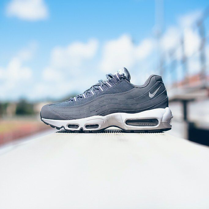 "3af7d54680f Sneaker Politics on Instagram  ""Nike Air Max  95 - Dark Grey Wolf Grey Black   160 sizes 7.5-13 Available now at our Lafayette and Baton Rouge locations."