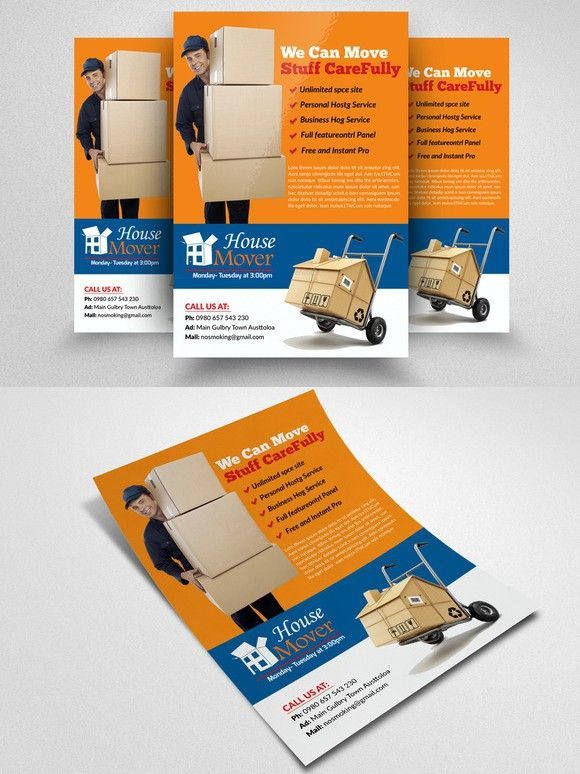 Moving House Services Flyers Flyer Template Template And Business