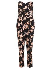 5554eeb7792 Printed Bandeau Jumpsuit - Miss Selfridge