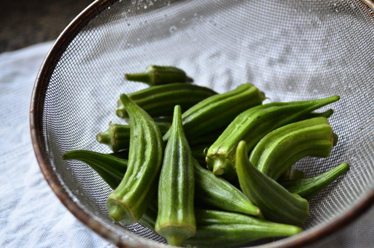 Recipe Japanese okra salad Gorumando Okra, Japanese