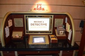 Become a detective at Disney's Midship Detective Agency on the Disney Dream