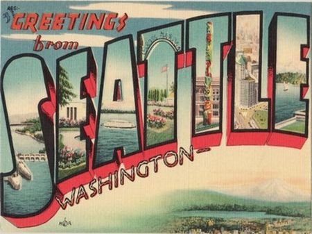 Retro Seattle postcard. Ahhh the good ol' days! | Back in the Day ...