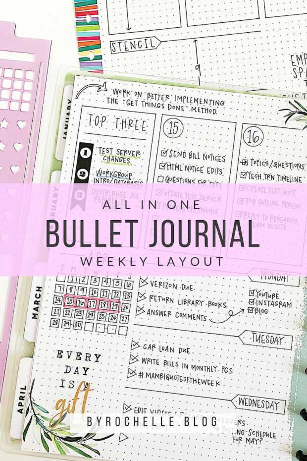All In One Bullet Journal Weekly Layout