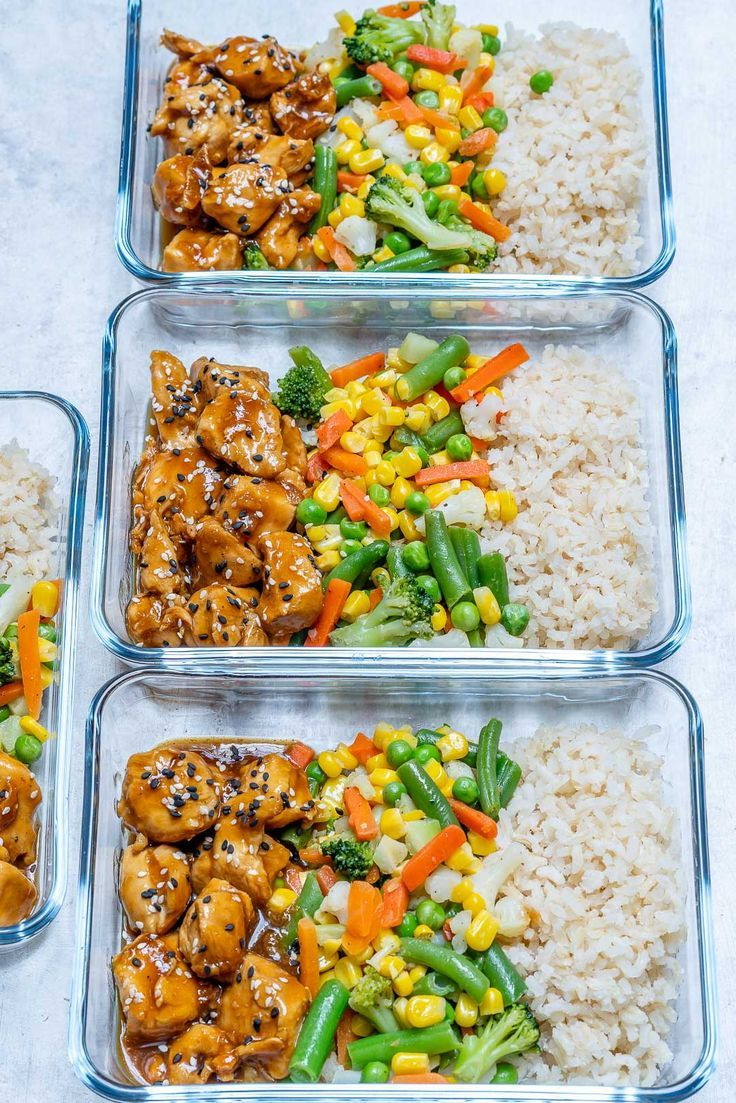 #MealPrep Teriyaki Chicken Bowls for Your Clean Eating Goals!