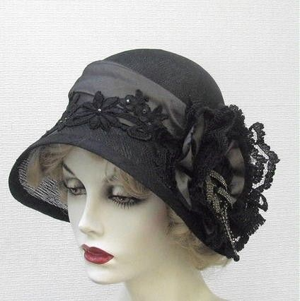 23533ca6ff2ee Hand Made Couture Vintage Style Cloche Women s Hat by Gail s Custom Hats