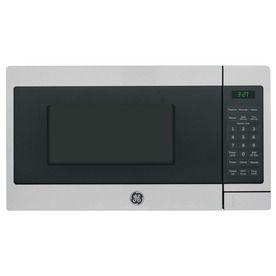 Ge 0 7 Cu Ft 700 Watt Countertop Microwave Stainless Steel