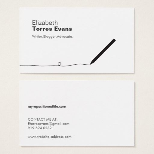 Pencil Business Card For Authors Writers Zazzle Com In 2021 Business Cards Creative Card Writer Buisness Cards