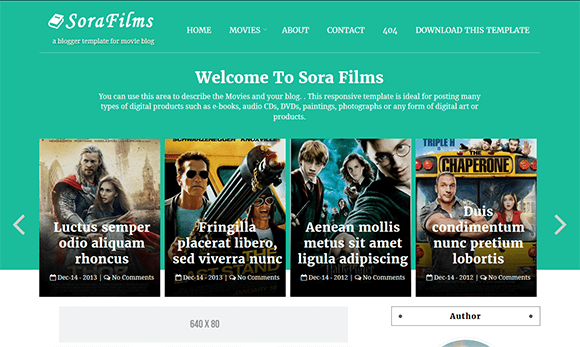 Sora Films is the perfect theme for a movie review website. The ...
