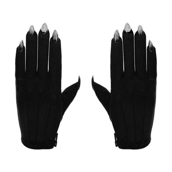 Vegan black sarah nail gloves   Gloves and Black