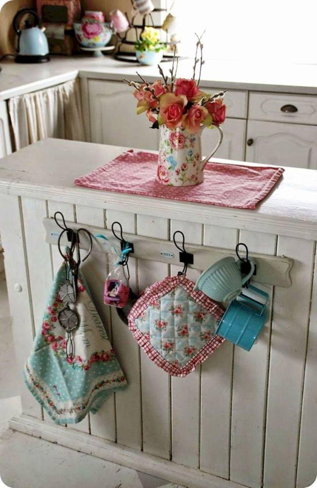 36 Smart Farmhouse Kitchen Storage Organizing Ideas | Shabby chic ...