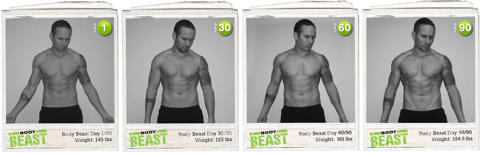 With Body Beast your body can change like this.
