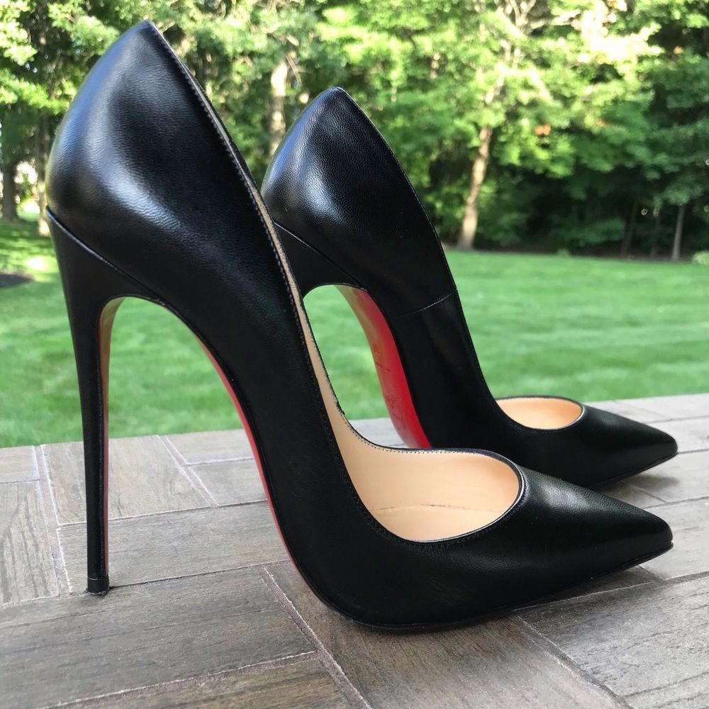 hot sale online 4f2c9 60663 CHRISTIAN LOUBOUTIN So Kate Black Leather Size 37 ...