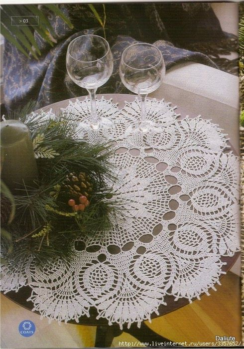 Edivana Croche: Toalha de mesa