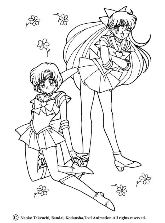 Sailor Moon Spring time coloring page. More Sailor Moon coloring ...