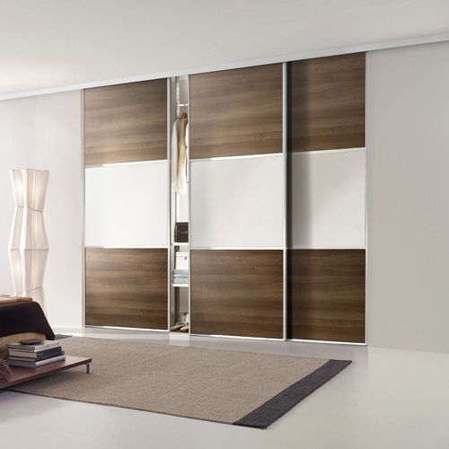 Linear Sliding Wardrobe Between 1780 And 3430mm Wide 3 Doors 3 Sections 1766 500 500