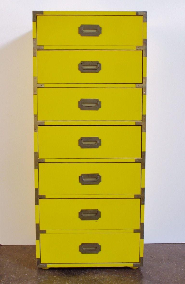 Tall Campaign Style Mid Century Dresser Mid Century Dresser Campaign Furniture Remodel Bedroom