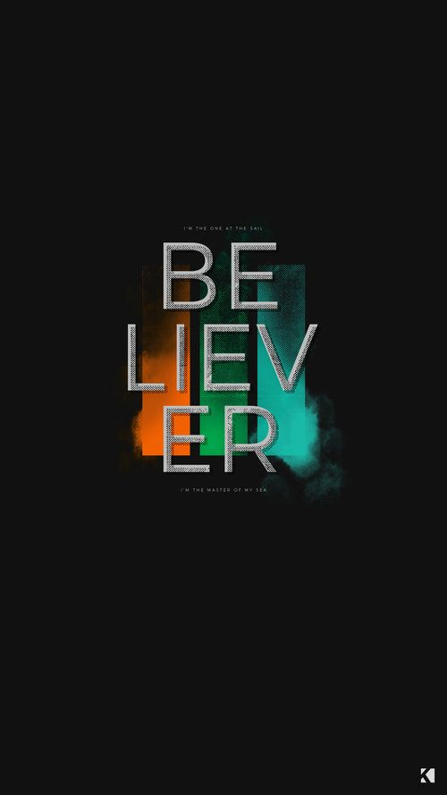Imagine Dragons Believer Lyrics Wallpapers By Kaespo Design Imagine Dragons Believer Imagine Dragons Imagine Dragons Lyrics