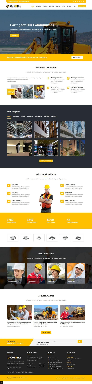 Cornike - Joomla Construction Business Template | Wordpress template ...