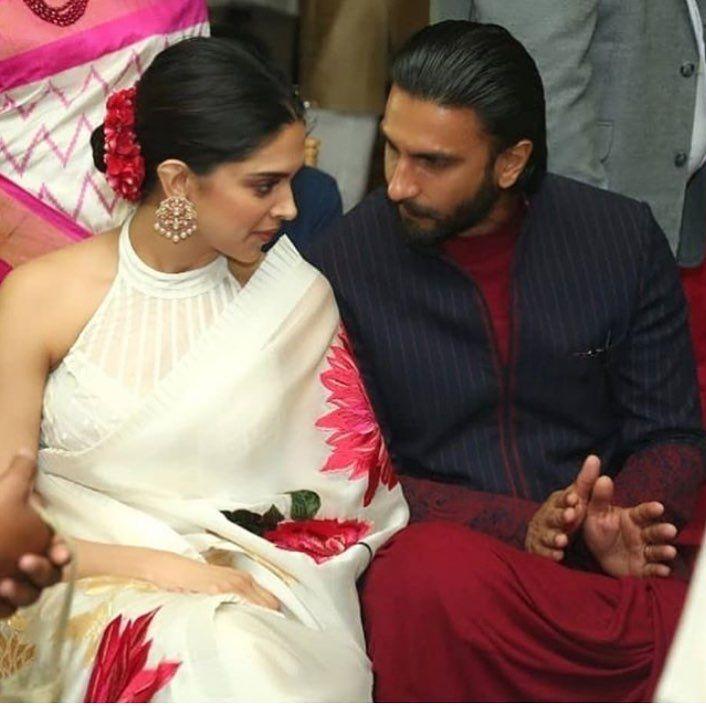 Power Couple Deepika Padukone Ranveer Singh Enjoy Cousin S Wedding In Mumbai Hungryboo Designer Saree Blouse Patterns Saree Blouse Designs Blouse Designs