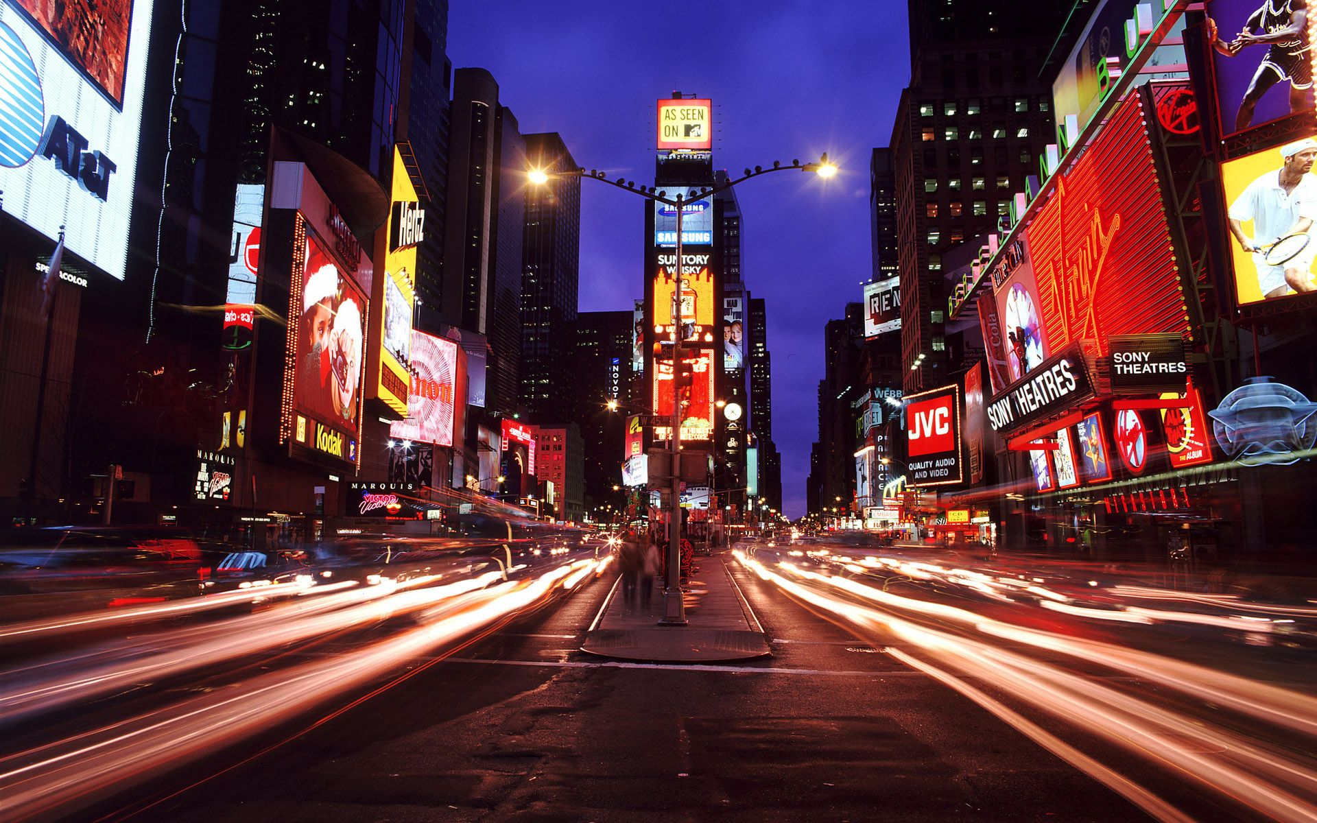 New York City Times Square New York Night City City Wallpaper