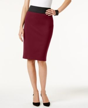 580f65e4d Inc International Concepts Curvy-Fit Pencil Skirt, Created for Macy's - Red  XXL
