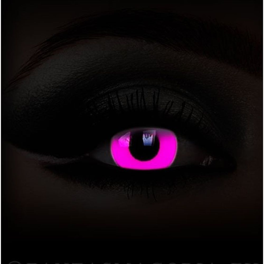 Glow in the Dark 'Pink' UV Contact Lenses by ColourVUE ...