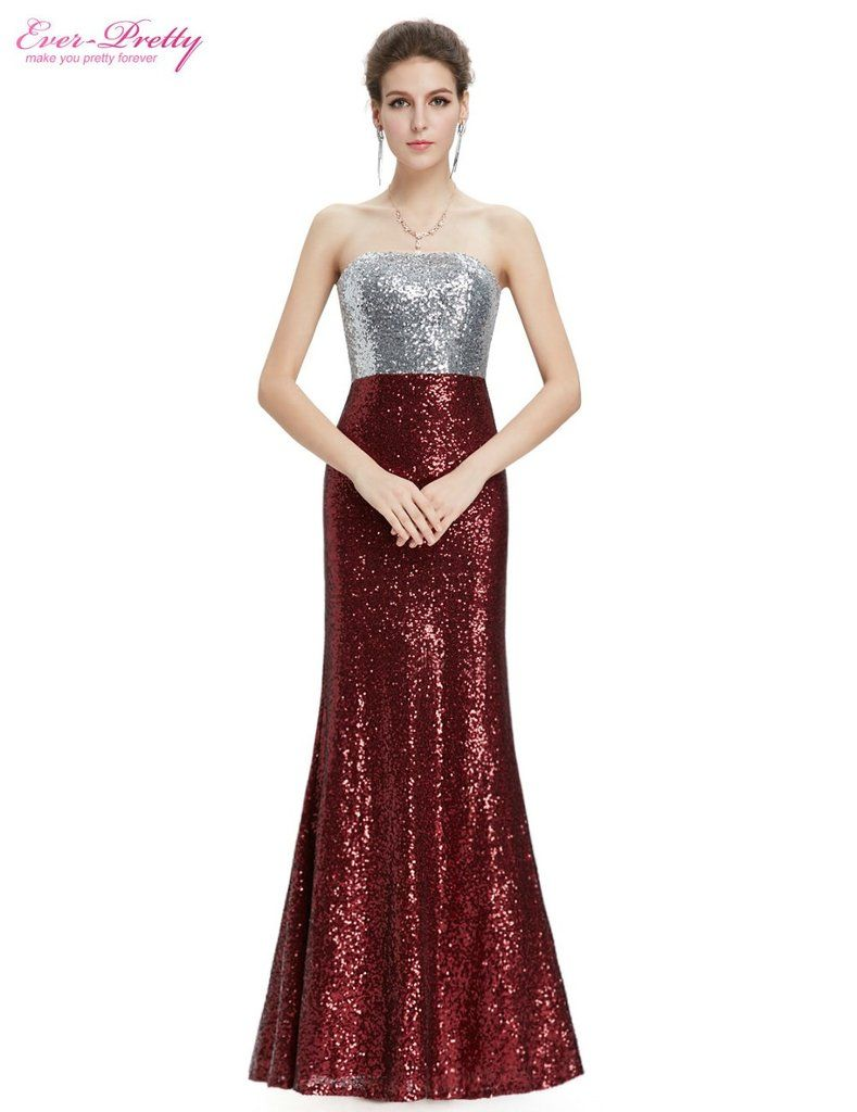 Strapless flare sequins sexy gown womenus fashion pinterest