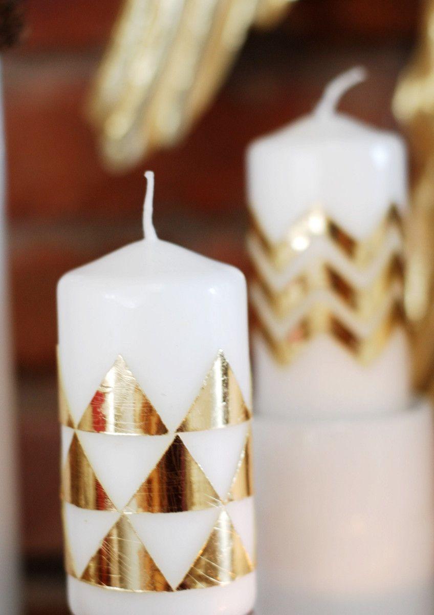 Kerzen Mit Wachsplatten Beklebt Kerzen Verzieren Kerzen Kerzen