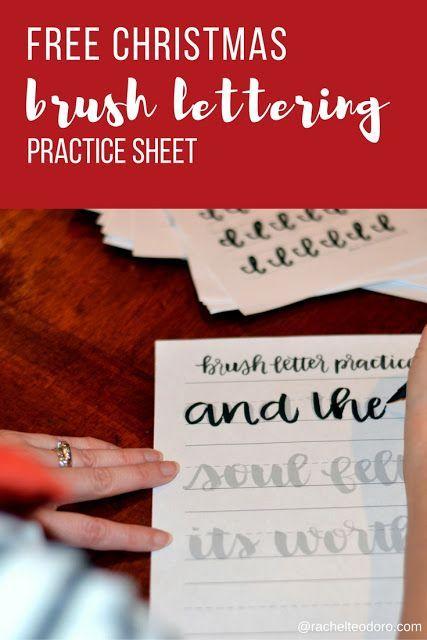 Free Christmas Brush Lettering Guide