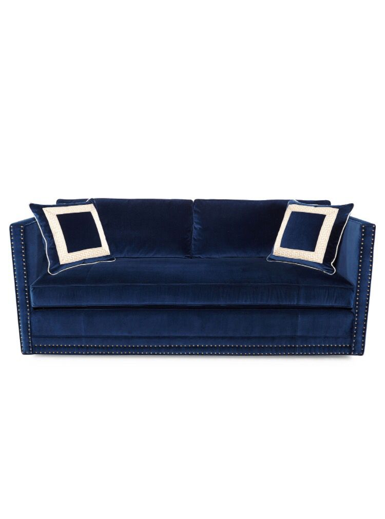 Blue Suede Sofa Navy Velvet Sofa Blue Suede Couch Navy