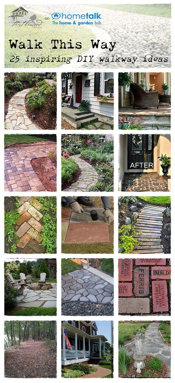 Amazing DIY walkway ideas Desperately needed because