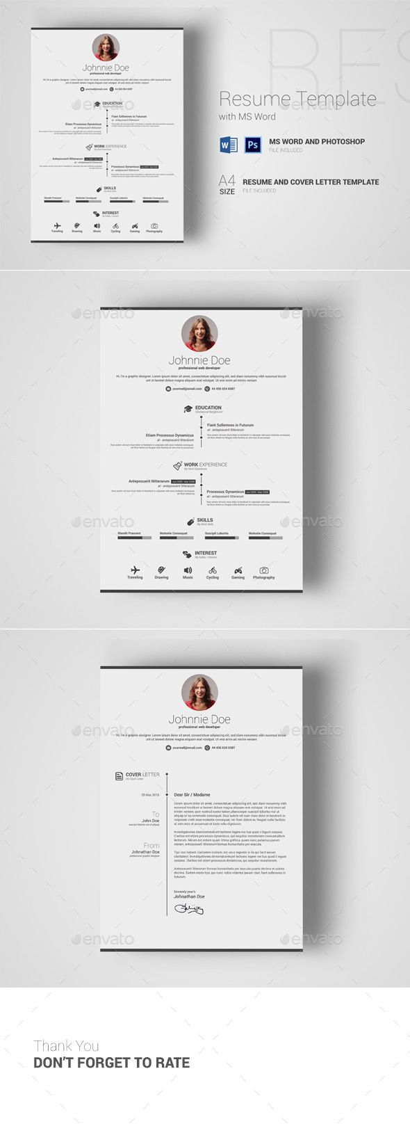 Resume Template With Ms Word  Resumes Stationery Download Here