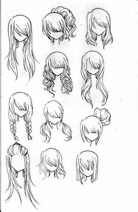 drawing hair easy - google
