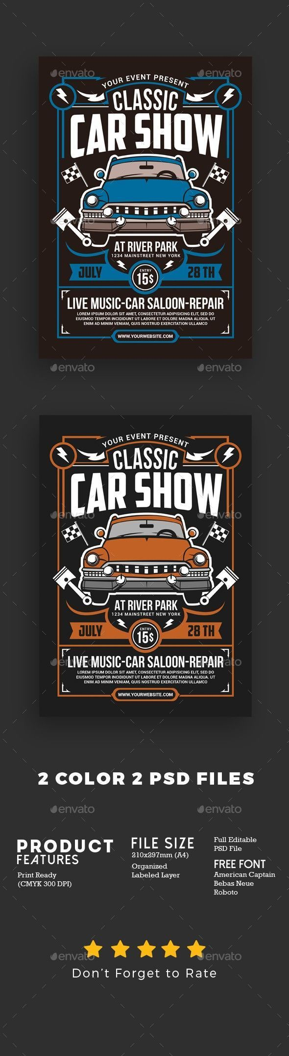 auto, background, car, car poster, classic, Classic Cars Flyer, club, design, dr…