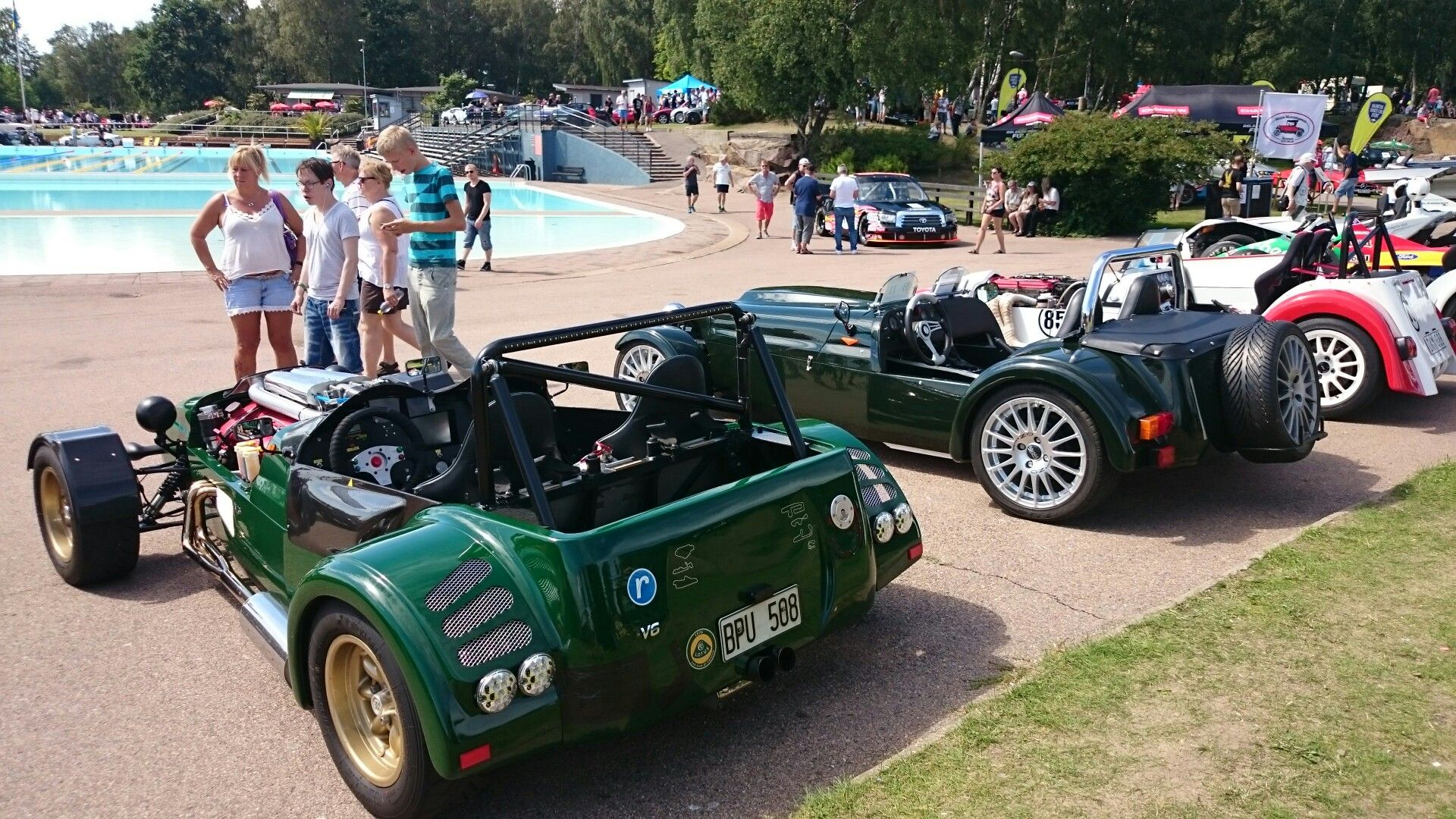 Lotus Super 7 replicas. Halmstad, Sweden, Sports Car Event