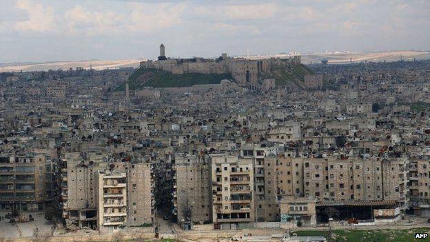 Blast Hits Aleppo Intelligence Hq Aleppo Skyline Syria