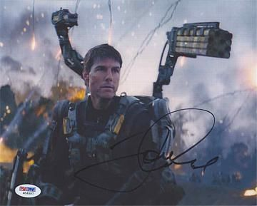 Tom Cruise Edge of Tomorrow Signed 8x10 Photo Certified Authentic PSA/DNA